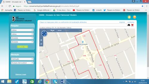 Coeficiente de localização, mapa por Rua, como calcular o IMI e valor patrimonial tributário do imóvel