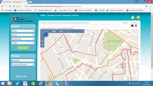 Começamos com a opção por Ruas (Road) para localizar o local; Coeficiente de Localização. Como Calcular o IMI.