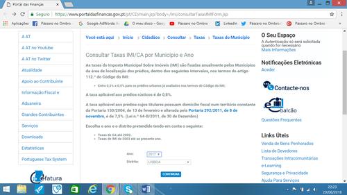 Taxa de IMI, Distrito de Lisboa, Ano de 2017, Como calcular o IMI