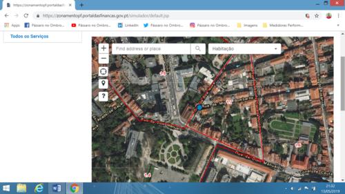 Calcular Valor Patrimonial Tributário - VPT, acedendo ao coeficiente de localização
