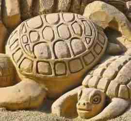 SandCity. A cidade de areia. Esculturas de areia. Arte em areia. Estátua de areia.