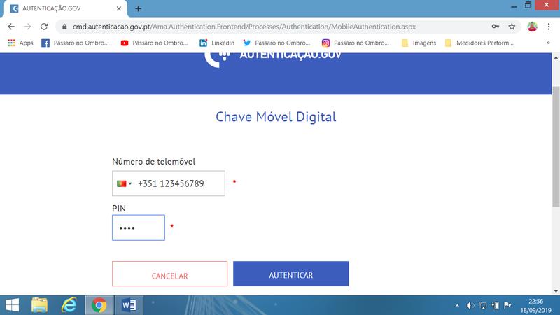 Use a Chave Móvel Digital