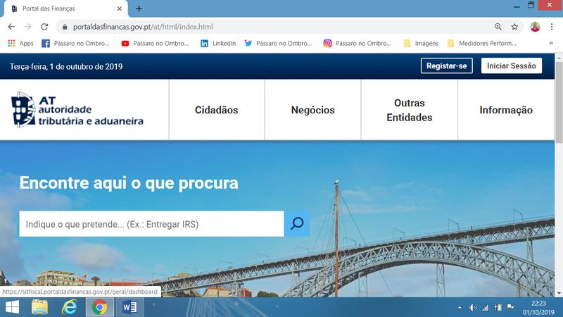 Exemplo com Portal das Finanças