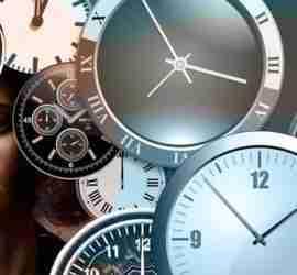 Diferença de horas entre relógios