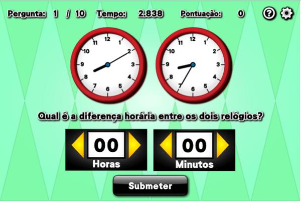 Diferença entre Horas nos Dois Relógios