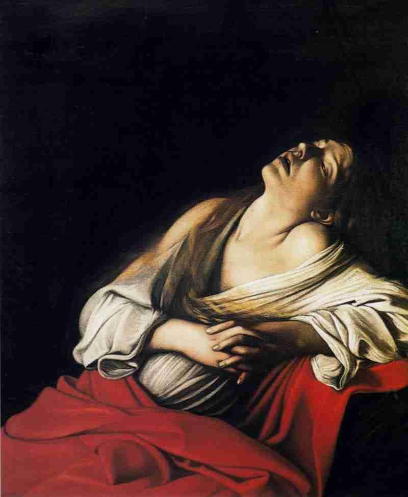 Maria Madalena em Êxtase, Exemplo de Tenebrismo