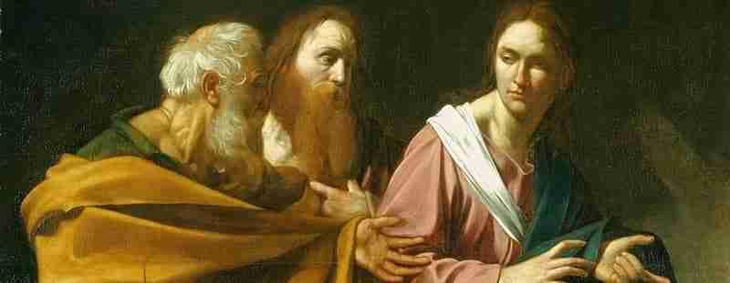 Quadro de Caravaggio, representando o Tenebrismo