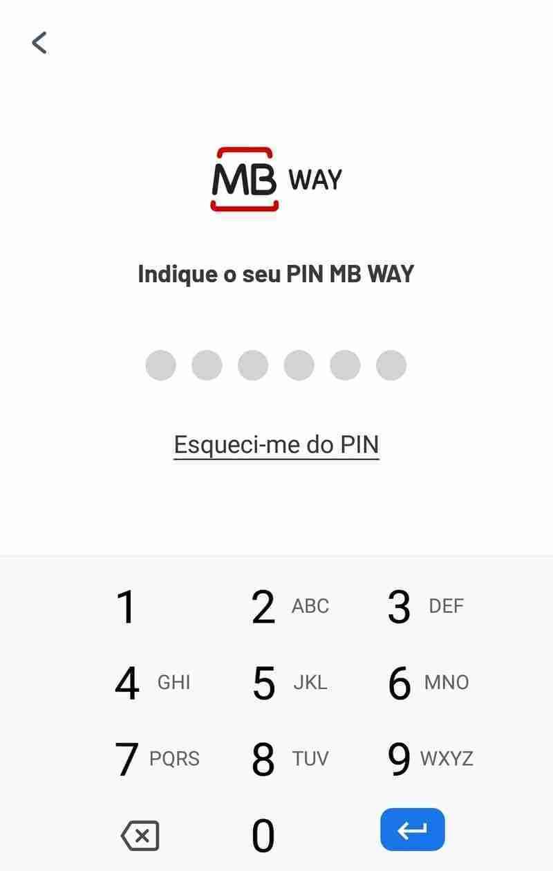 Password Aplicação MB Way