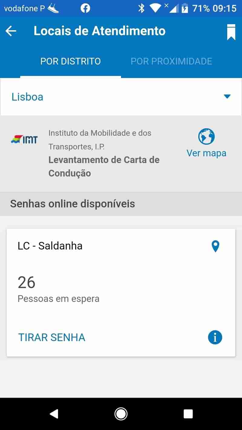 Aplicação Siga App fila em espera 9 15