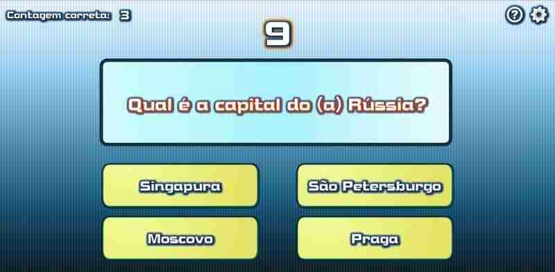 Jogo das Capitais do Mundo