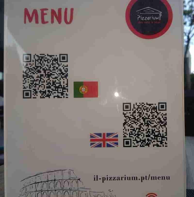 Código QR em Placard