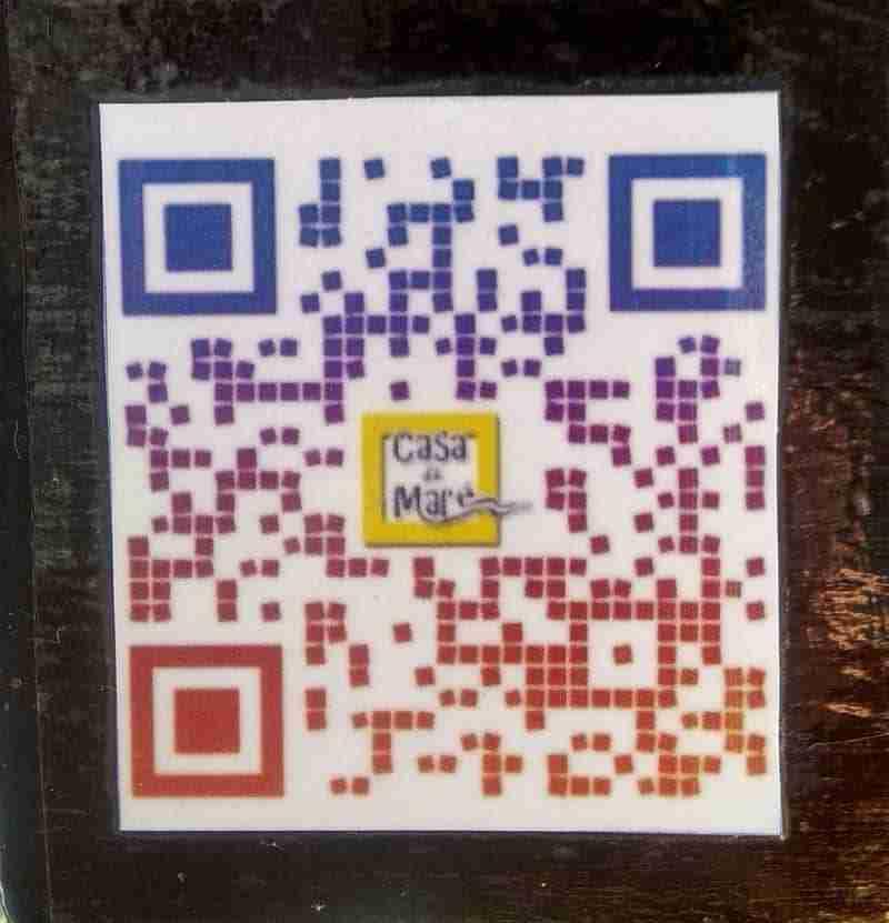 QR Code numa Mesa de Restaurante