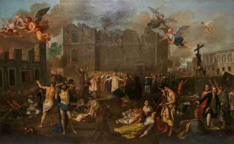 O Terramoto de 1755, pintado entre 1756-1792 por João Glama Museu Nacional de Arte Antiga, Lisboa, Fonte GualdimG, CC BY-SA 4.0 via Wikimedia Commons